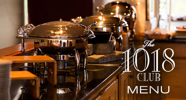 The 1018 Club Menu