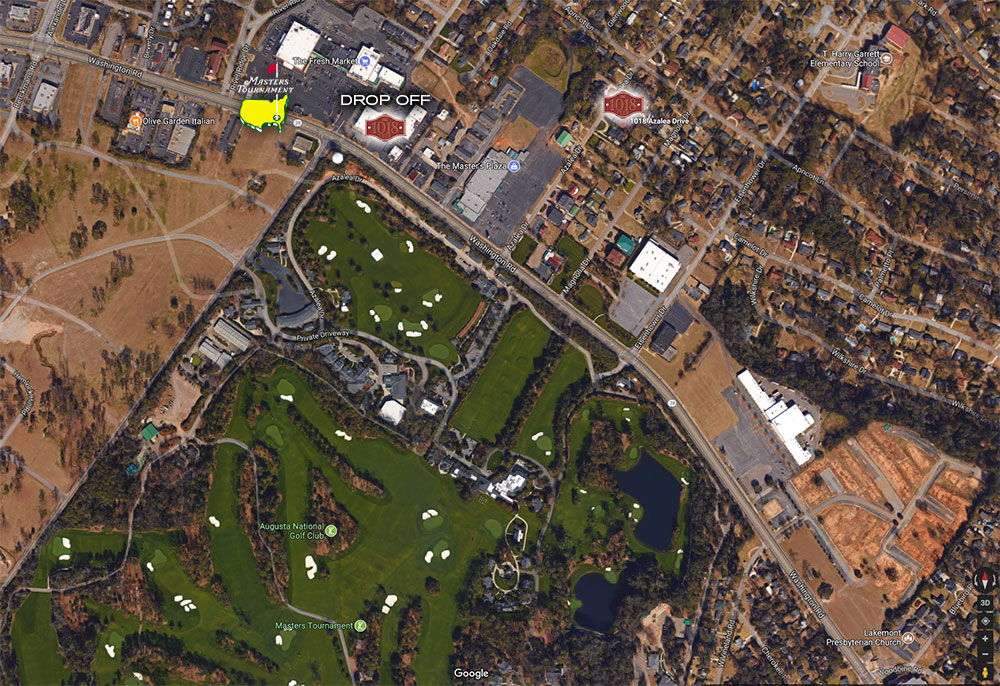 The 1018 Club Location Compared to The Masters