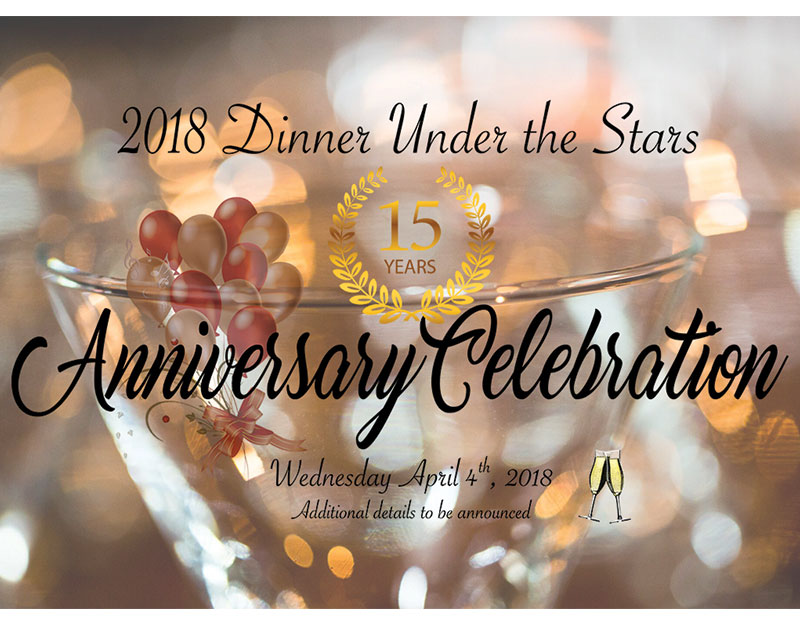 2018 Dinner Under the Stars - The 1018 Club Masters Hospitality